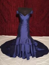 JOVANI Royal Blue Long Prom Homecoming Pageant Gown Dress sz 2