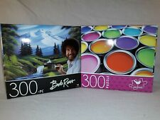 2 - 300pc Puzzles 11 X 14 Overall Size Bob Ross, Paint