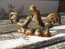 Ancien bronze combat de Coq