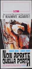 TEXAS CHAINSAW MASSACRE 13x28 Italian poster 1975
