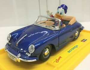 Burago 1:24 Disney Collection Scrooge McDuck Porsche 356 Cabriolet