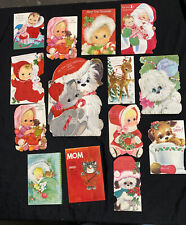 Lot 14 Vintage Signed 1969 Hallmark Baby's First Christmas Cards Squeaker Works!