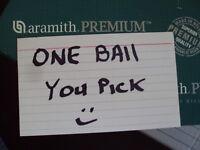 "One Aramith 2 1/4"" Premium Standard Belgian Billiard Pool Ball Replacement Used"
