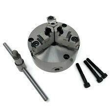 """5"""" 3-JAW SELF-CENTERING LATHE CHUCK top & bottom jaws front mounting #0503A-FM"""