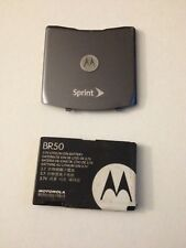 Original Oem Motorola V3 V3m V3c Razr Gray Sprint Battery & Back Rear Cover Door