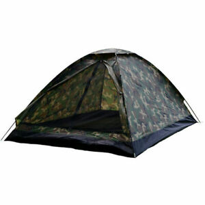 Mil-Tec 2 Person Igloo Tent 'IGLU SUPER' For Festival Camping Woodland Camo