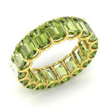Neues Angebot3.40 CT Natürlich Peridot 14K Gelbgold Verlobung Edelstein Ring Smaragd Schnitt