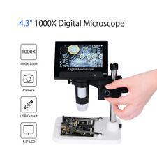"4.3"" VGA 1000X Zoom Digital Microscope Magnifier For PCB Motherboard Repairing"