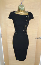 STUNNING KAREN MILLEN BLACK PENCIL DRESS UK 12 40 WORK OFFICE BUSINESS