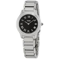 Fendi Classico Black Dial Ladies Stainless Steel Watch F251031000