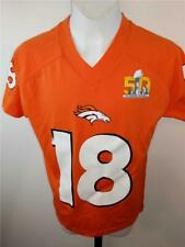 New-Flawed Peyton Manning #18 Broncos Youth Size 8 S Small Jersey