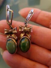 Malachite Gemstone 925 Silver Earring made in Ukraine