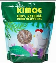 Kimoe 100% Natural Dried Mealworms for Birds, Chicken and Ducks - 5lbs Exp 12/21