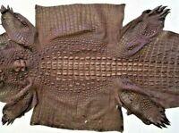 Genuine Crocodile Leather Hide  Brown  Unique exotic CITES 90 cm long
