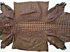 Genuine Crocodile Leather Hide  Brown  Unique exotic CITES