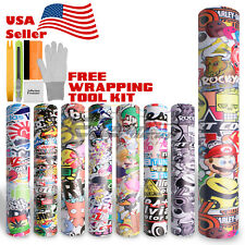 *Premium Sticker Bomb Vinyl Wrap Decal Film Graffiti Cartoon Anime JDM USDM DIY