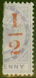 Dominica 1882 1/2 on Half 1d SG11 Fine Lightly Mtd Mint