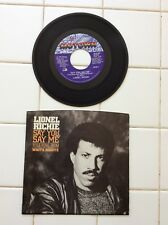 1985 45 RPM Lionel Richie Say You Say Me ( White Nights )  FREE SHIP