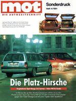 Opel Omega 2.6i Caravan Volvo 940 GL Kombi Sonderdruck reprint mot 4/91 1991 Pkw