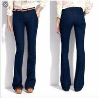 MADEWELL women size 28x31 dark wash Widelegger mid rise boho denim jeans