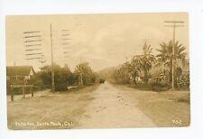 Palm Ave SANTA PAULA CA Rare Dirt Road—Ventura County 1910s (Posted 1950)