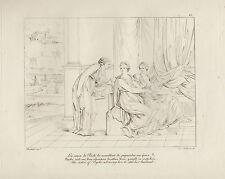 1805 Raffaello incisione in acciaio Le sorelle di Psichè....