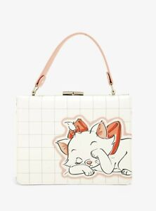 Loungefly The Aristocats Sleeping Marie Cat Purse Clutch Bag Clasp White NEW