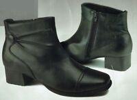 Damen Stiefelette Schuh Stiefel Absatz Kunstleder Blockabsatz Reißverschluss