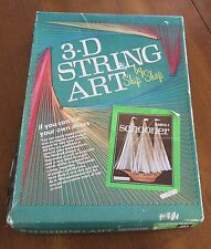 "Vintage Ship Shop Schooner String Art Sculpture Kit 3D Boat Plaque 9"" x 12"""
