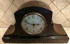 antique Seth Thomas Flame mahogany art-deco mantle/ desk/ shelf clock running
