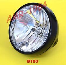 PHARE ANTÉRIEUR UNIVERSEL NOIR LAMPE H4 12 60 / 55w ø 190 15.6503