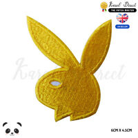 Playboy Bunny Logo Embroidered Iron On Sew On PatchBadge For Clothes Bags etc