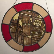 Medieval painted enamel glass Gothic window PAUL FRIEND ARC. STAINED GLASS 1996