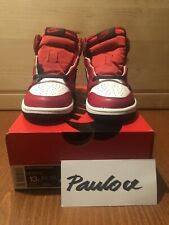 New Air Jordan 1 Retro High OG Red White Black Chicago Satin Snake Ps Size 13c
