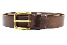 Cinturón De Cuero Marrón Para Hombre Original RLC Talla M
