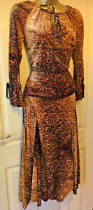 Karida devore velvet gypsy style top & skirt set sizes 10 to 16