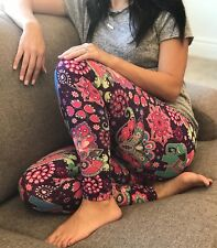 NWT Buttery Soft Indian Elephant Safari Leggings One Size S M L Paisley Zoo OS