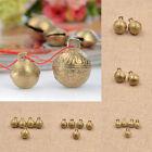 Brass Carved Tiger Bell DIY Fengshui Bracelet Pendant Handmade Craft Gift