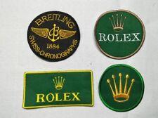 patch ecusson ROLEX BREITLING swiss chronographs  F1 golf tennis equitation