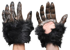HALLOWEEN ADULT MONKEY APE GORILLA GLOVES MASK PROP