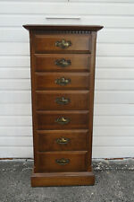 Tall Narrow Vintage Lingerie Jewelry Chest by Ethan Allen 1528