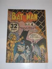 BATMAN Comic - No 89 - Date ? - Sungravure Comics (UK Comic)