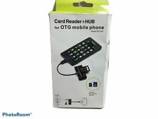 3 in 1 Card Reader + HUB for OTG Mobile Phones