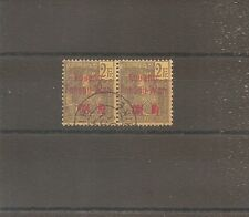 TIMBRE KOUANG TCHEOU 1906 PAIRE N°15 OBLITERE USED CHINE CHINA ¤¤¤ VIETNAM