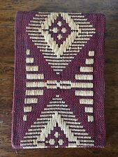 ANTIQUE NOTE PAD Hand Woven Native Folk Art Textile Mexico Vintage