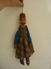 Pantin ancien en bois peint - Guerrier turc ottoman arabe (poupée - mannequin)
