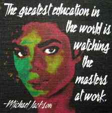 MICHAEL JACKSON QUOTE - Printed Patch - Sew On - Vest, Bag, Backpack, Jacket