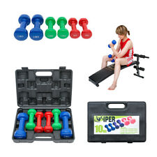 10kg Ladies Dumbbell Weights Set Aerobics Gym Class/Workout Dumbbells Kit