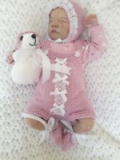More details for beautiful hand knitted romper set for 19/20 inch reborn baby/newborn 🐇🐇