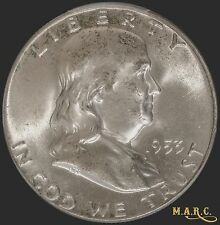 1953 MS65FBL PCGS 50c Franklin Half Dollar, Full Bell Lines! Free Shipping, MARC